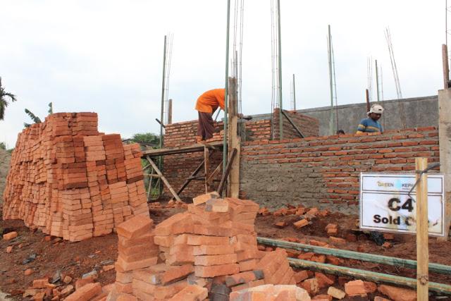 progress pembangunan rumah green kepayon